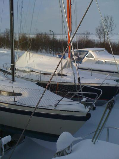 Jachthaven in de winter 2